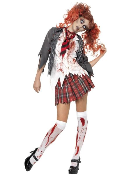Zombie Schoolgirl High School Horror Costume
